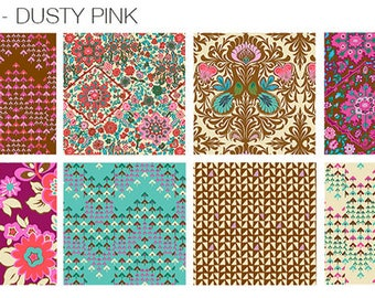 Soul Mate in Dusty Pink by Amy Butler for FreeSpirit - Fat Quarter Bundle