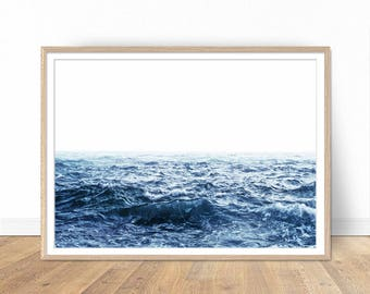 Ocean Print, Ocean Waves Print, Coastal Wall Decor, Ocean Art, Ocean Decor, Printable Poster, Digital Print, Digital Download, Coastal Art