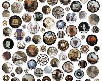 Giftwrap / Poster Print - Georgian Gentlemen's Buttons - 700 x 500mm