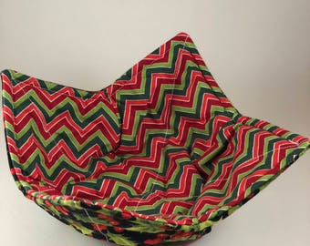 One reversible Christmas Microwaveable Bowl Cozy