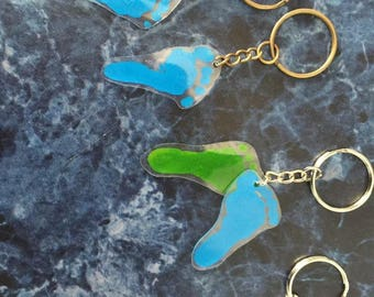 DIY shrink art keychain