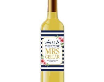 Bachelorette Party - Bridal Shower - Wine Labels - Printed Label