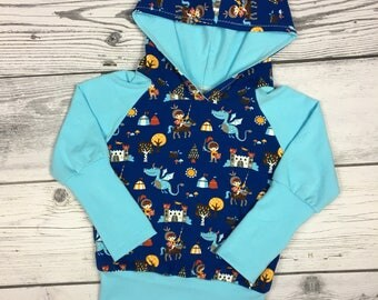 Grow with me hoodie,girls hoodie,boys hoodie,baby clothes,knights and dragons,gift for boys,gift for girls
