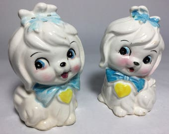 Cute Dogs Salt & Pepper, Kitsch Doggies Salt and Pepper