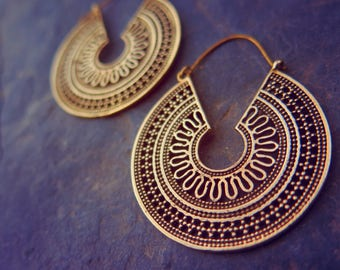 City Sunset Brass Earrings