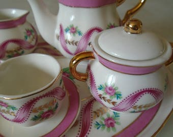bone china miniature tea set