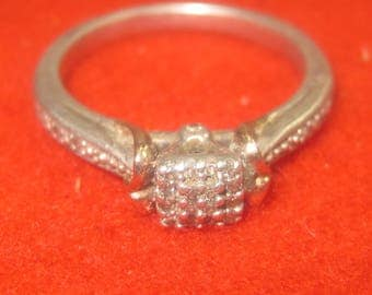 P-10 Vintage 925 silver ring size 7 1/4