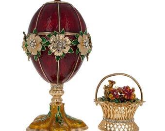 1901 Basket of Flowers Faberge Egg