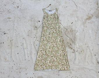 Light Green Floral Vintage Dress