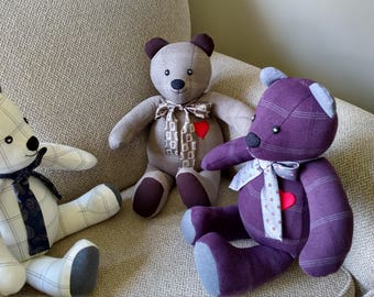 Three Memory Bears for Grandchildren