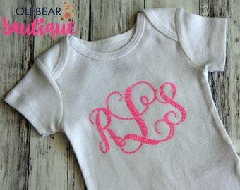 Baby Monogram Customized Onesie, Personalized Onesie, Custom Baby Gift, Newborn Onesie, Baby Shower Gift, Baby Announcement Onesie, Monogram