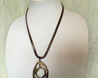 CHICO'S Necklace, Copper, Vintage Necklace, Statement Necklace, Costume Jewelry, Chicos, Designer Jewelry, Bronze Necklace