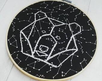 Constellations wall art, glow in the dark decor, bear decor, stars children's decoration, space present, ursa major bear, astrologer gift
