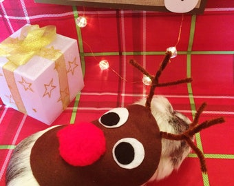 Christmas Guinea Pig Costume- Reindeer Costume for Small Pet. Cute Unique Handmade Christmas Gift.