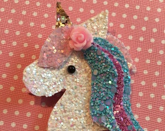 Brand new unicorn hair clip