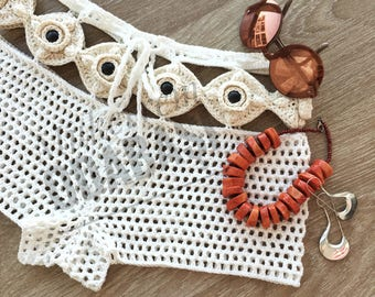 Cotton crochet short,beach wear,womens clothing,womens gift