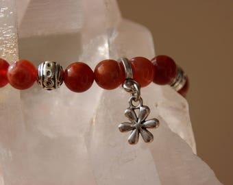 Stone of fire agate charm bracelet