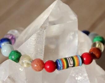 Bracelet beads chakra colors