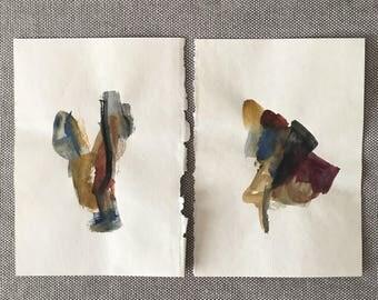 Watercolor Abstract, No. 9 & 10