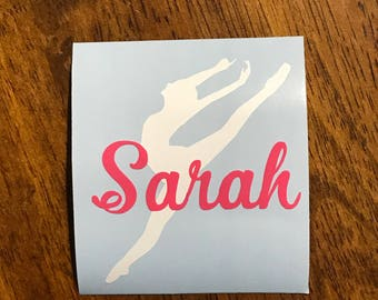 Personalized Dancer Decal