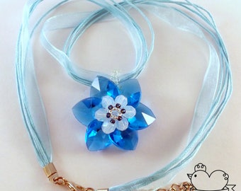 Hearts Flower Pendant Necklace