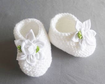 Let us put on baby of baptism made in France - Shoes of baptism baby - shoes baby whites