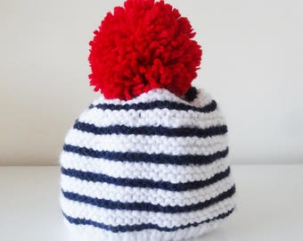 wool Cap marine style 0/3 month baby