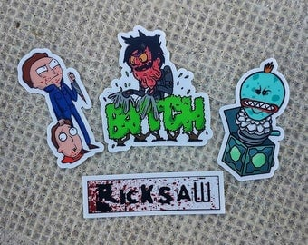 Rick and Morty Halloween Stickers