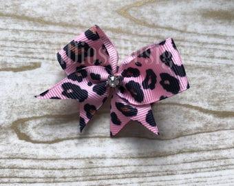Pink Animal Print Bow