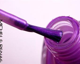 Purple Indie Nail Polish 'Cyber Summer' Nail Lacquer 5 Free Custom Nail Art Nail Color