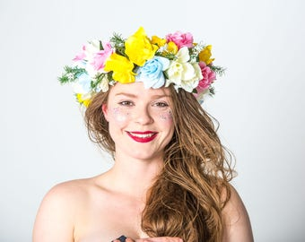 Spring flower headdress - Bespoke MayHem