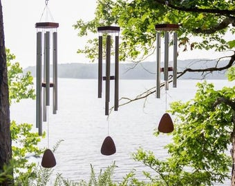 """Wind Chimes-Engraved-Memorial-Love-Wedding-WindChimes-Personalized Message-FREE SHIPPING!   36"""""""