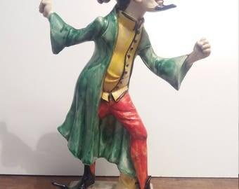 Vintage Harlequin Italian statue.