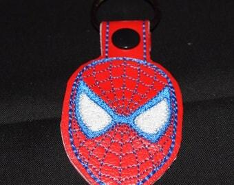 Spider Man key fob key chain zipper pull bag tag.