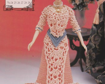 Miss June 1996, Annie's Edwardian Lady Crochet Doll Clothes Pattern Booklet 7906