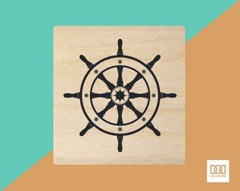 Ship Wheel - 3cm Rubber Stamp (DODRS0030)
