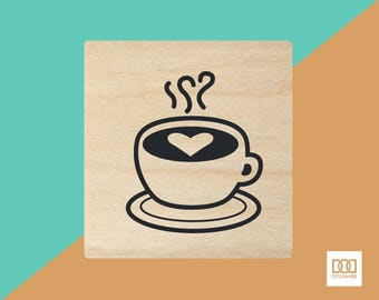 Coffee - 3cm Rubber Stamp (DODRS0086)