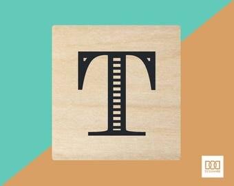 Modern Alphabet-T - 3cm Rubber Stamp (DODRS0174)