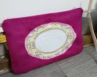 "The cover of the Moon, my first ""mirror"" suede handbag"