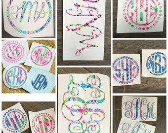 Vinyl Monogram Decals inspired by Lily Pulitzer