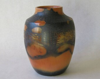 saggar fired ceramic bottle 16-019