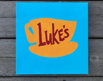 Luke's Diner - Gilmore Girls - Canvas - Acrylic Painting