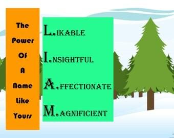 Special Nameplate - Liam - Printable Downloadable Design