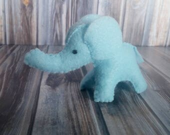 Little Felt Elephant Baby Shower/ Birthday/ Party Favor /Ornament Custom Colors
