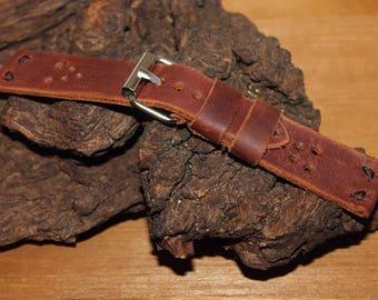 Leather watch strap 20 mm,Leather watch strap 22 mm, Wrist watch strap 22 mm, Watch band 20 mm 22mm 24 mm, Brown watch strap