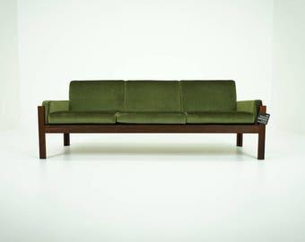 309-052 Rosewood Sofa Danish Mid Century Modern