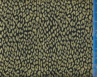 EV Spots Black Gold Fabric, Quilting Crafting Home Decor