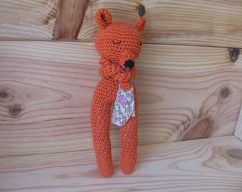 hand made crocheted Fox