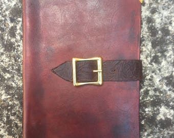 A5 Leather Journal Belted