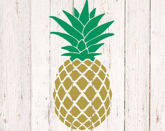 Gold Pineapple Decal, Gold Pineapple Stickers, Car Decal, Pineapple Decor, Pineapple Tumbler, Yeti Decal, Laptop Decal